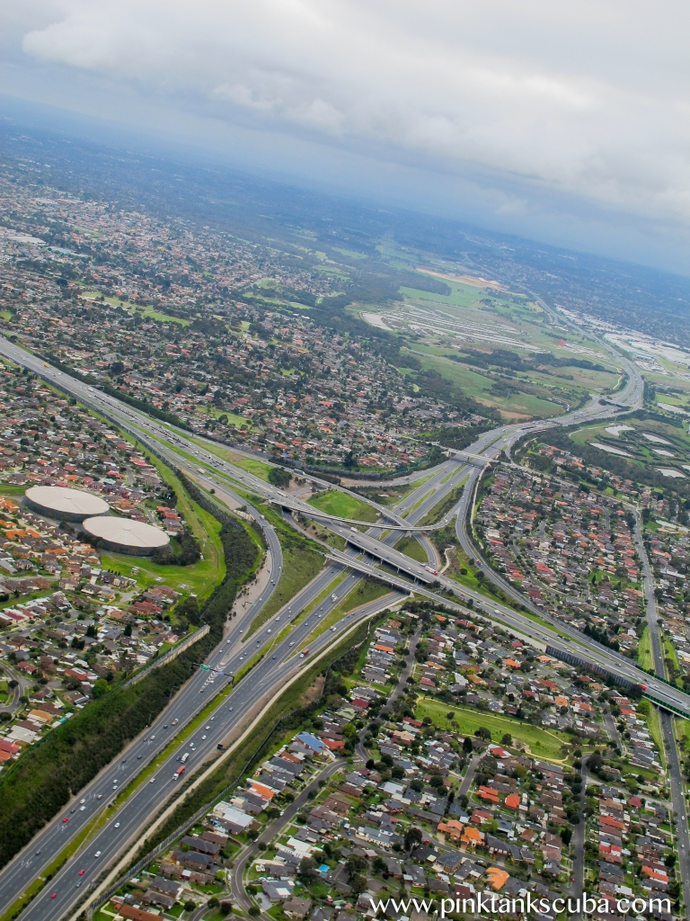 over melbourne freeway