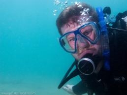 James underwater