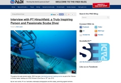 17 July 2015 PADI 'Women in Diving' Interview with PT (Feature Article)