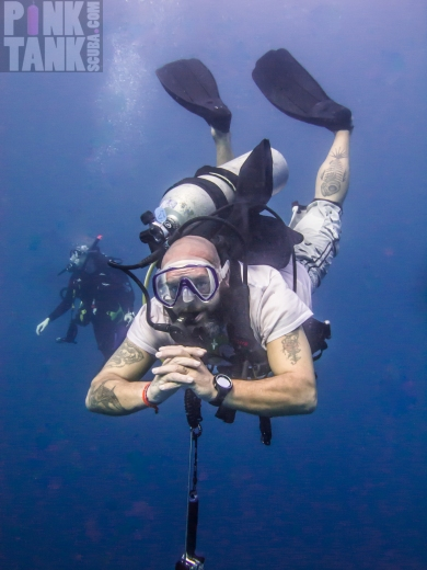 LOGO Maldives Diver Tony with Tattoos